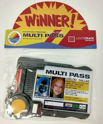 Fifth Element Leeloo Dallas Multi Pass Multipass prop replica ID Badge holder a8