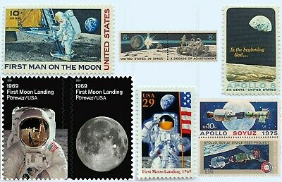 US STAMPS -1960's-1970's APOLLO SPACE MISSIONS - 9PC SET - MINT NEVER HINGED