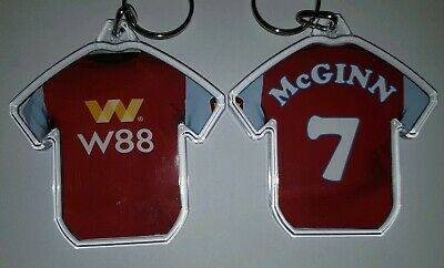 Aston Villa Football Club 19/20 personalised keyring  with badges