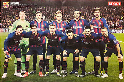 Poster FC BARCELONE 2019 Format  40 x 54