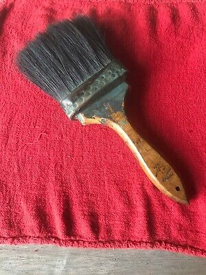 Vintage Paint Brush Wolfe Brush Co. Pittsburgh  Leather Bound