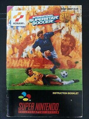 International Superstar Soccer Deluxe SNES PAL Instruction Manual ONLY