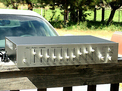 Vintage Silver Face Fisher Graphic Equalizer EQ-2322 & Manual, Very Nice.