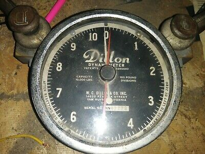 Dillon 10,000 lb Dynamometer 100 lb Divisions Used for parts
