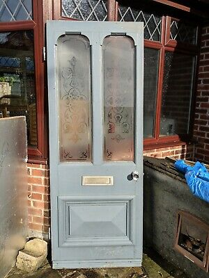 Victorian/Edwardian Door, With Etched Glass Panels