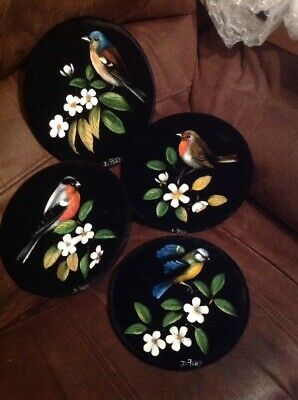 Set Of 4 Painted Wall Hangings Cool Items