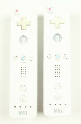 Lot of 2 Nintendo Wii Remotes 2x OEM Authentic White Wiimote RVL-003