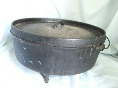 Shallow No. 14Y Cast Iron Dutch Oven Possibly a Lodge