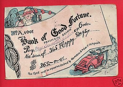 Comic Bank Of Good Fortune Prosperity Branch 1907 Old Fort Wayne In  Postcard