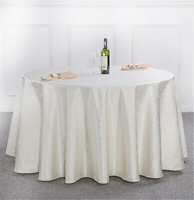 """90"""" round Red White Pink Luxury Tablecloth Non-Iron Stain Resistant 5* quality"""