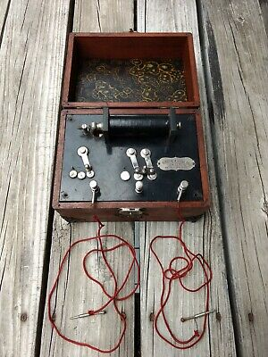 Antique Quack Medical Electrical Device w Battery Portable Physician's Therapy