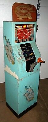 1950 Int'l Mutoscope Flying Saucers Animated Arcade Machine - RARE & SPACE THEME