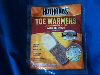 Lot Of 6 Hothands Toe Warmers With Adhesive 2 In Each Bag Up To 8 Hours Of Heat
