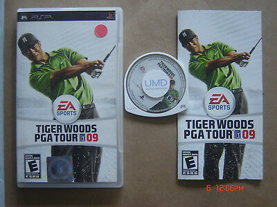 Video Game Sony PSP EA Sports Tiger Woods PGA Tour 09 Complete