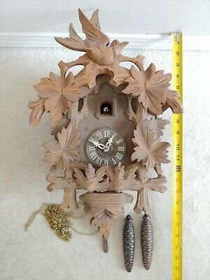 Vintage Exquisitely Carved Large Black Forest Cuckoo Clock  - for repair