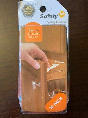 (10-Pack) Safety 1st Spring-Loaded Cabinet & Drawer Latches Baby Child Proofing