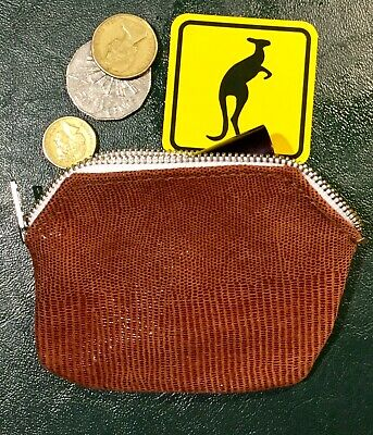 Kangaroo  Leather Cosmetic, Coin case purse Made in Australia