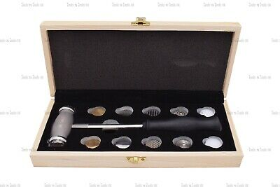 Wood Box Texturing Hammers 12 Faces/ Heads Design Patterns Jewellery Repousse