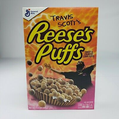 Travis Scott Reeses Puffs Limited Edition Cereal Box Unopened