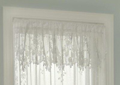 Heritage Lace Tea Rose VALANCE 60x17 WHITE Made in USA