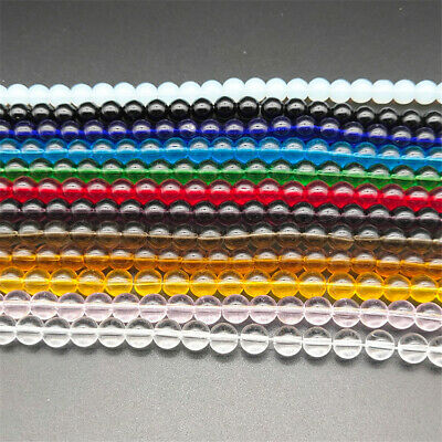 4-8mm Natural Color Crystal Loose Beads Diy Accessories 15 inches Healing Spacer