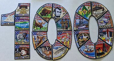 Complete Sub Camp Set 21 Patches 2010 National Boy Scout Jamboree Subcamp