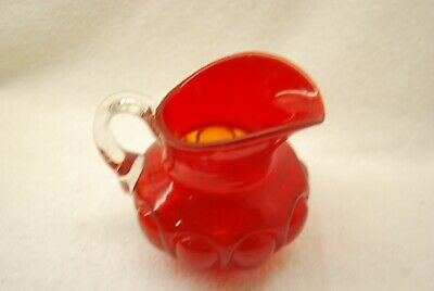 Scarce Victorian Eapg Consolidated Pigeon Blood Bulging Loops Creamer 1890'S