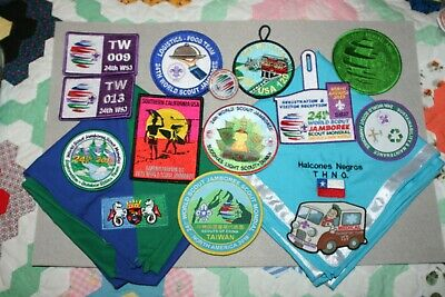 2019 World Scout Jamboree Wsj Traded For Lot Of Patches And Neckerchiefs