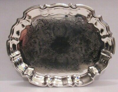 Vintage English Sterling Company by Leonard Silver Plated Footed Serving Tray
