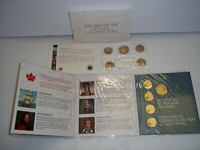 2012 + 2013 - 2 RCM CANADA COIN SETS TO COMMEMORATE War of 1812 Canadian
