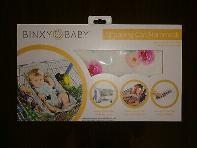 Binxy Baby Shopping Cart Hammock for Infants, Floral Print - New