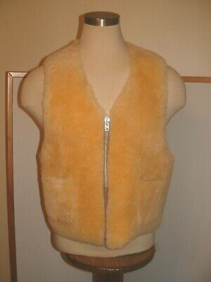 Coach 1941 Sheepskin Leather Shearling Wool Vest Size L Men or Women UNISEX