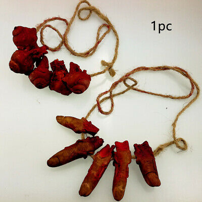 PVC Finger Necklace Realistic Dress Up Halloween Props Scary Toys Decorations