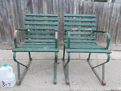 Vintage Wrought Iron Garden Seats Garden Chairs  (Resto/Projects)