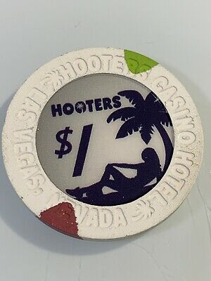 HOOTERS $1 Casino Chip Las Vegas Nevada 3.99 Shipping