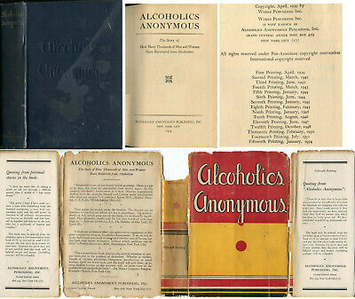 Alcoholics Anonymous 1st Edition 15th Printing 1954 DJ First Edition AA Big Book