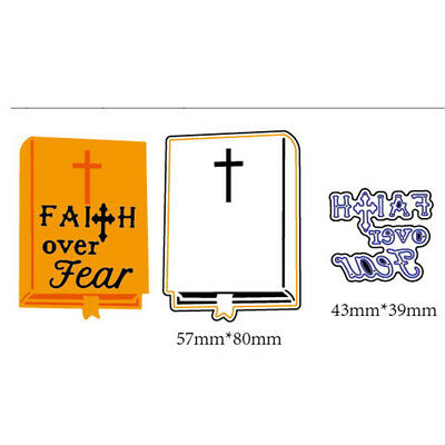 2pcs Faith Over Fear Metal Cutting Dies For DIY Scrapbooking Album Paper CarATA