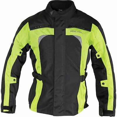 Richa Bolt Waterproof Textile Motorcycle Jacket.Black/fluo Yellow