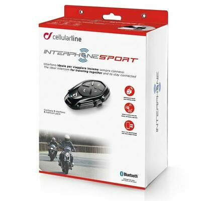 Interphone Sport Motorcycle Bluetooth Intercomm Comms - Single Headset