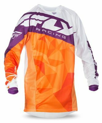 Fly 2017 Kinetic Crux MX Motocross Youth Jersey Orange/White/Burgundy M