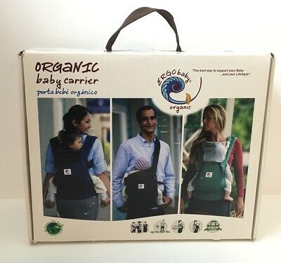 Ergo Baby Organic Brown Front Back Hip Carrier Adjustable Straps Baby Carrier