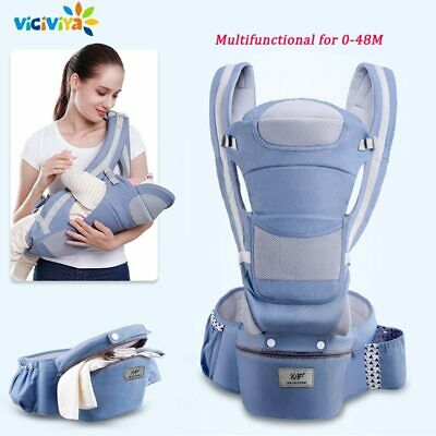 0-48M Ergonomic Baby Carrier Infant Baby Carrier Front Facing Baby Sling Wrap