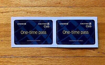 2 Passes for United Club One Time Pass EXP 6/7/2020 E-pass available