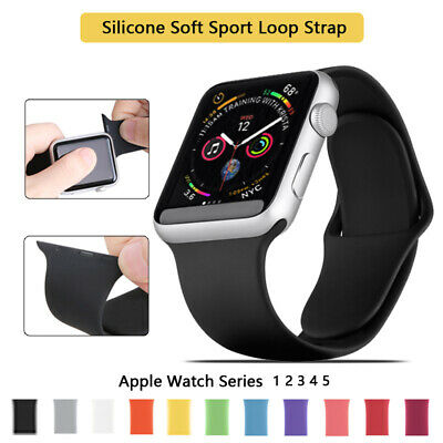 For Apple Watch iWatch Series 1 2 3 4 5 38/40/42/44mm Soft SILICONE Sport Strap