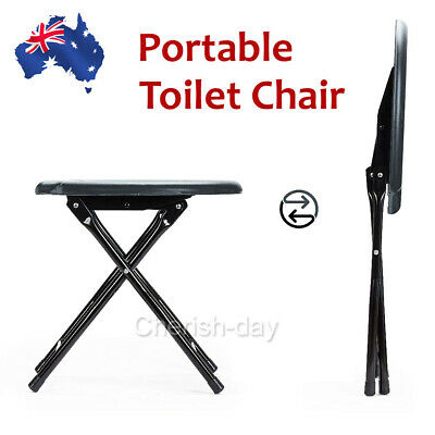 New Portable Folding Camping Seat Toilet Chair Fishing Outdoor Travel Seat OZ