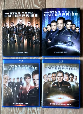 STAR TREK Enterprise Blu-Ray Quattro Cofanetti Stagioni Complete Intera Serie TV