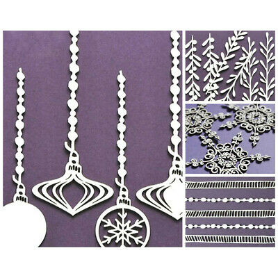 WYCINANKA Christmas Craft Shapes for Card Making Chipboard Cut-out Embellishm...