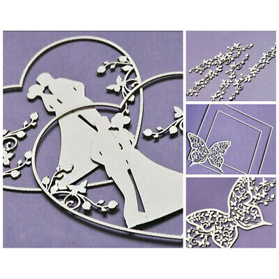 WYCINANKA Wedding Butterfly Craft Shapes for Card Making Chipboard Cut-out Em...