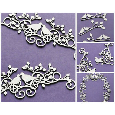 WYCINANKA Wedding Love Pigeons Craft Shapes for Card Making Chipboard Cut-out...