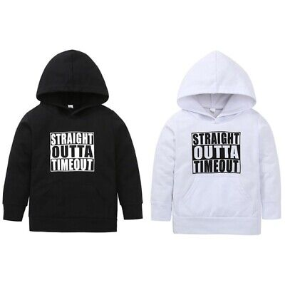 Kids Baby Toddler Boy Girl Hooded Letter T-shirt Pullover Blouse Hoodie Tops